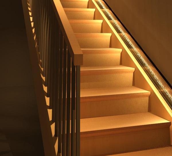 نورپردازی پله ساختمان